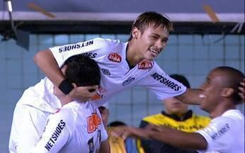 Gol do Santos! Neymar recebe na área e amplia aos 5 do 2º tempo - Gol do Santos! Neymar recebe na área e amplia aos 5 do 2º tempo.