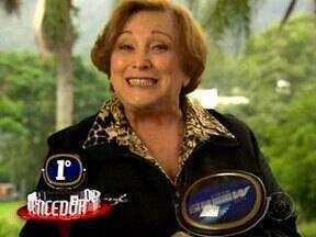 Nicette Bruno ganha troféu de Melhor Tapa no Vídeo Show Retrô - Foi durante a briga de Iná com sua filha Eva em A Vida da Gente