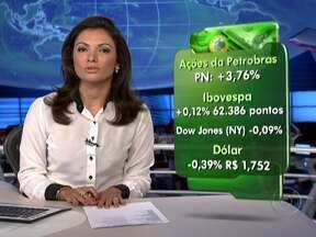 Anúncio de mudança no comando da Petrobras movimenta ações da empresa - O índice da Bovespa fechou em alta. A Bolsa de Nova York encerrou perto da estabilidade. No câmbio, o dólar caiu para R$ 1,752. A cotação do barril de petróleo se valorizou no mercado internacional.