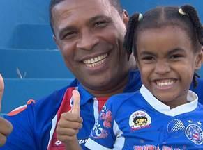 Com bons resultados na 'era Falcão', torcedor do Bahia volta a sorrir - Em sete jogos, Tricolor teve seis vitórias e um empate. Time joga em Pituaçu, neste domingo, contra o Juazeiro pelo Campeonato Baiano.