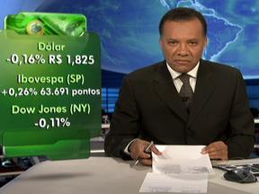 Cotação do dólar cai para R$ 1,825 - A Bovespa fechou em alta de 0,26% e a de Nova York teve queda de 0,11%. Os novos pedidos de seguro desemprego nos EUA caíram para o menor número desde 2008. Apesar da notícia, preocupações em relação à Espanha preocuparam os investidores.