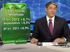 Crescimento econômico da China tem o pior resultado em três anos - No primeiro trimestre de 2012, o PIB chinês cresceu 8,1%. As bolsas da Europa, de Nova York e de São Paulo fecharam em queda. No Brasil, a cotação do dólar subiu para R$1,84.