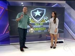 Fernanda Maia, gandula destaque na final da Taça Rio participa do Globo Esporte - A reposição rápida foi importante para o lance do Botafogo contra o Vasco. Apesar de botafoguense a profissional garante que não viu o gol e nem teve intensão de facilitar a jogada.