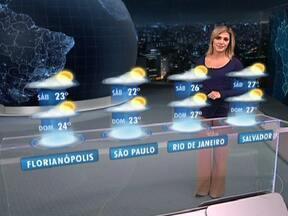 Tempo no Brasil fica dividido nesta sexta-feira (18) - Assim como nos últimos dias, vai chover no Norte do Brasil. Outra região onde vai chover muito é no leste da Bahia. Mas as áreas com sol aumentam. Uma começa no Rio Grande do Sul e vai até o Espírito Santo e a outra pega de Alagoas ao Maranhão.