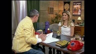 O Produtor faz uma entrevista e emprego com Ingrid Guimarães - Atriz busca uma oportunidade para começar a sua carreira no quadro do Altas Horas
