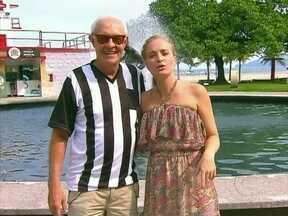 Angélica e Ney Latorraca visitam a cidade de Santos - O ator levou a apresentadora para conhecer os pontos turísticos de sua cidade natal