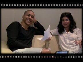 Bastidores: Daniela Fontan e Lincoln Tornado passam o texto de ´Amor´ - Câmeras do programa não perdem um lance do que acontece no Projac