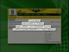 Brasil-Pe pode ser punido por tentar garantir vaga na Série C judicialmente - Informação foi publicada no site da CBF.