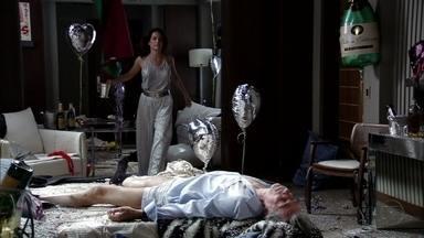 Alexia resgata Ruy após festa com Cadinho - A socialite conta para o noivo que ele foi vítima de uma armadilha preparada por Cadinho