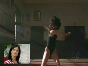 Mais Você mostra cenas de Flashdance, filme que inspirou o ensaio de Aline Riscado - Bailarina se inspira em cena clássica do cinema da década de 80