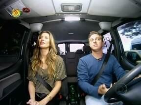 Luciano Huck apresenta o Vou de Táxi com a participação de Gisele Bündchen - A modelo falou sobre o marido, o jogador Tom Brady, e sobre o filho, Benjamin