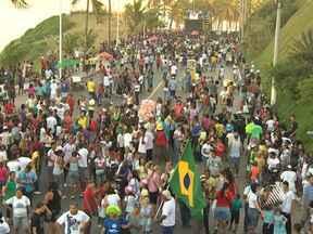 Marcha para Jesus é realizada em Salvador enste sábado - O evento deixou complicado o trânsito nos bairros da Barra e Ondina.