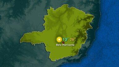 Veja como fica o clima neste domingo em Minas Gerais - Tendência é de que a temperatura suba.