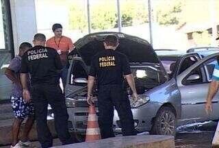 Polícia Federal faz fiscalização intensa na fronteira com a Bolívia - Policiais federais em greve fizeram nesta quarta-feira, uma operação padrão na fronteira com a Bolívia. Quem precisou passar de um país para o outro teve de ter paciência.