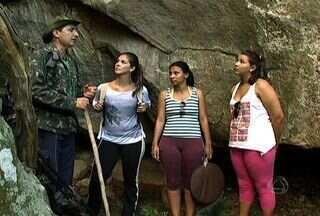 Gruta em Costa Rita tem escrituras e pinturas rupestres - Gruta em Costa Rita tem escrituras e pinturas rupestres