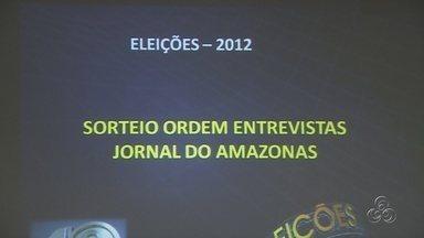 Sorteio define ordem de entrevistas de candidatos em telejornais da TV Amazonas - Candidatos à prefeitura de Manaus serão entrevistados a partir desta segunda (20).
