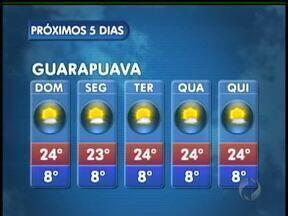 Domingo de sol na região de Guarapuava - Uma massa de ar seco e quente continua sobre o Paraná e deixa o domingo ensolarado, sem previsões de chuva