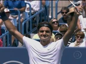 Roger Federer vence em Cincinnati e soma 76 títulos na carreira profissional - O suíço número um do mundo derrotou o número dois, o sérvio Djokovic.