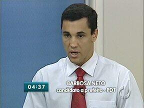 O candidato a prefeito Barbosa Neto, do PDT, fala ao Paraná TV - A série de entrevistas com os candidatos a prefeito de Londrina ouviu as propostas de Barbosa Neto para a administração da cidade, caso seja eleito.