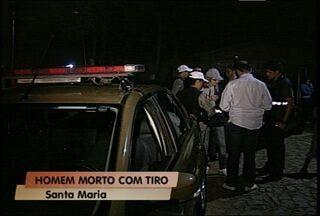 Homem é morto a tiros em Santa Maria - Crime foi na noite de ontem