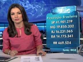 IBGE divulga novos números para população brasileira - São quase 194 milhões de habitantes, três milhões a mais do que em 2010. São Paulo continua sendo o estado mais populoso, com quase 42 milhões de moradores, seguido por Minas Gerais, Rio de Janeiro e Bahia.