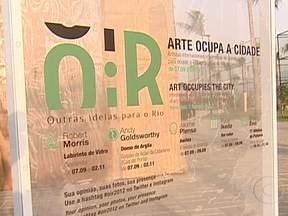 Bairros do Rio recebem obras de arte do projeto OIR - Exposição de arte a céu aberto transformou cartões postais da cidade e a dica é percorrer o roteiro programado de ônibus. Para participar do passeio, os ônibus saem às 10h e às 15h na Avenida Nestor Moreira, na Enseada de Botafogo.