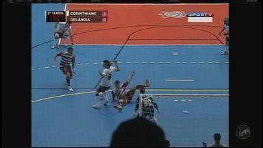 Orlândia vence o Corinthias na Liga de Futsal - O Orlândia venceu o Corinthias por dois a um e se aproxima da final da Liga de Futsal.