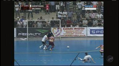Orlândia vence Corinthians de virada na Liga Futsal - Equipe orlandina está a um empate da final da competição.