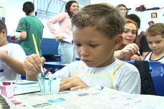 Escola de Cachoeiro de Itapemirim, no Sul do ES, recebe projeto 'Amigos da Escola' - Projeto da Rede Globo levou tema 'Família na escola: parceria que dá certo'.