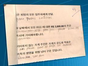 Comerciantes de Bom Retiro recebem cartas ameaçadoras - A polícia investiga o caso e já tem as imagens do suspeito de enviar as cartas. Pelo menos 15 comerciantes receberam a carta. O delegado acredita que a ação não foi feita por uma facção.