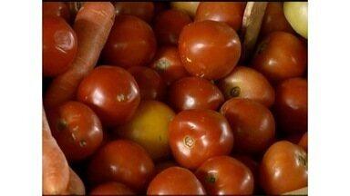 Preço do tomate sobe nas últimas semanas, chegando a custar R$ 80 - Técnicos dizem que a falta do produto no mercado está fazendo com que os preços fiquem elevados.