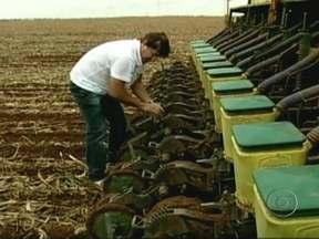 Chuvas deixam agricultores do Mato Grosso otimistas - A chuva que caiu nos últimos dias, deixou o solo úmido, permitindo que muitos agricultores pudessem antecipar o plantio da soja. Cerca de 7,8 milhões de hectares do grão devem ser plantados no estado, 12% maior que na safra passada.