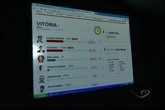 Vitória terá segundo turno entre Luciano Rezende e Luiz Paulo - Luciano Rezende recebeu 39,14% dos votos válidos. Luiz Paulo recebeu 36,69%.