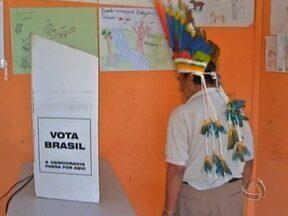 Comunidade indígena Pareci votou sem precisar ir até a cidade - Foi a primeira vez que os indígenas receberam uma seção dentro da aldeia. Foram duas aldeias, a Nova Esperança e a Rio Verde. Só nesta última cerca de 300 indígenas votaram.