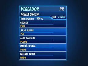 Ponta Grossa elege 23 vereadores; nove se reelegeram - Confira a lista com os novos vereadores que farão parte da Câmara Municipal em 2013.