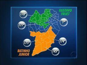 Veja quem venceu a eleição para prefeito no seu bairro - Mapa mostra como foi a votação de Ratinho Junior e Gustavo Fruet.