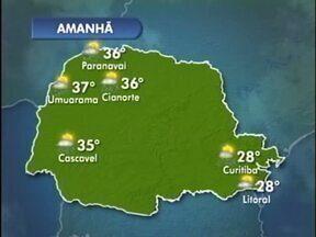 Previsão de tempo abafado e pancadas de chuva para esta terça-feira - Nuvens carregadas continuam sobre a região e pode chover, principalmente à tarde. Em Cianorte, a máxima chega aos 36º.