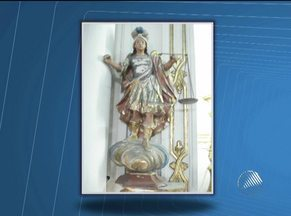 Polícia continua sem pistas sobre roubo de imagens da catedral de Serrinha - Assalto de seis peças aconteceu na madrugada da última segunda-feira.