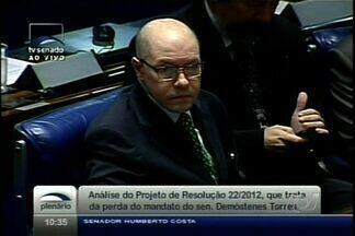 Ex-senador Demóstenes Torres é suspenso do MP em Goiás - Corregedoria do órgão abriu processo disciplinar contra procurador. Processo é sigiloso e ele está suspenso até julgamento final do caso.