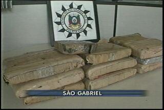 Polícia apreende 15 quilos de maconha em São Gabriel, RS. - A polícia usou escutas telefônicas para chegar aos traficantes.