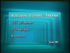 Feriadão termina com 327 acidentes nas rodovias do Paraná - De acordo com a polícia rodoviária, oito pessoas morreram e 177 ficaram feridas nas estradas do estado. Na região de Guarapuava foram 15 acidentes, com 10 feridos e um morto.