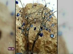 Saiba por que o olho grego está na novela Salve Jorge - O cenário da trama mostra árvore cheia de olhos gregos