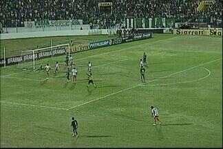 Fernando faz bela defesa no chute do Canga - Atacante do Icasa quase marcou para o Verdão