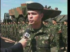 Blindado que será utilizado pelo exército argentino é testada em São Borja, RS - Indústria brasileira de veículos militares começa a ganhar espaço no mercado internacional.