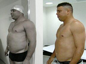Ronaldo perde oito quilos em seis semanas - O ex-jogador perdeu ainda sete centímetros de circunferência abdominal. O percentual de gordura reduziu para 20% de gordura. Ele também ganhou dois quilos de músculos. Ronaldo superou as expectativas e ganhou novas metas.