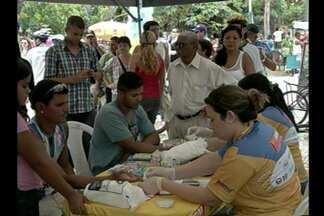 Mulheres são as mais atingidas pelo diabetes no Pará - Ação na Praça Batista Campos diagnosticou diabetes.