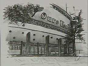 Artista pinta cartão postal em homenagem ao Ouro Verde - Ela vai mandar um cartão assinado para o governador Beto Richa, que se comprometeu em reconstruir o teatro.