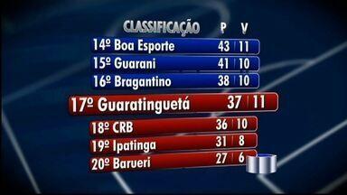 Guará torce para a derrota dos adversários - Time de Guaratinguetá luta para não ser rebaixado para a Série C do Brasileiro.