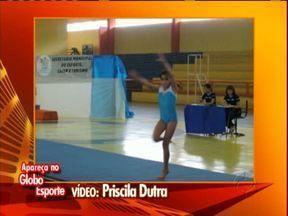 Apareça no Globo Esporte mostra competição de ginástica artística - Gabriela Castro é uma das vencedoras do Campeonato Paranaense de Iniciantes
