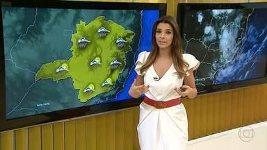 Previsão de chuva continua na Região Metropolitana de Belo Horizonte - Há muita umidade sobre Minas Gerais.